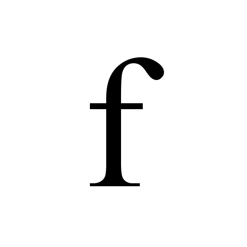 how to write small letter f