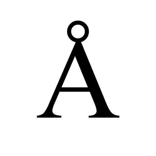 Å glyphs times new roman regular
