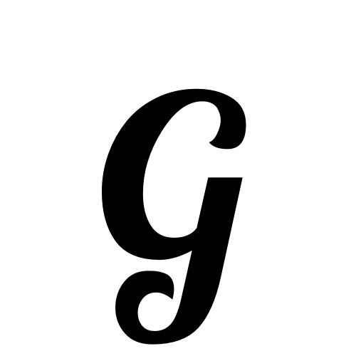 G | latin capital letter g | Lobster1.1, Regular @ Graphemica