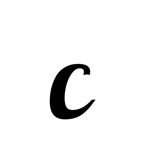 C | latin capital letter c | Lobster1.1, Regular @ Graphemica